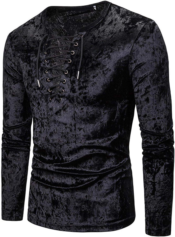 Camisa Negra De Los Hombres Correa Profunda con Cuello En V ...