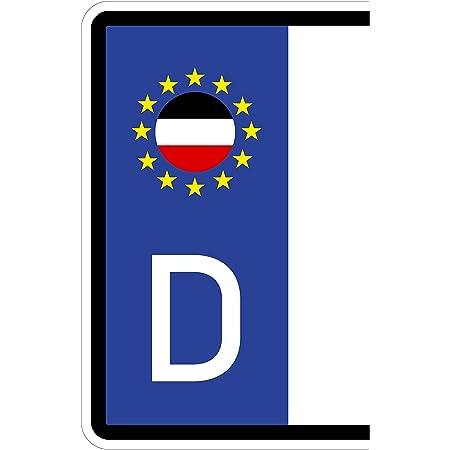 Generisch 2 Stück Kennzeichenaufkleber Deutsches Kaiserreich Reich Set Flaggen Aufkleber Sticker Plakette Deutschland Germany Autoaufkleber Auto