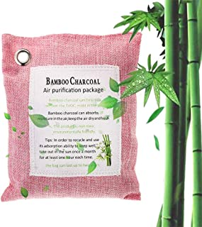 Bamboo Charcoal Air Purifying Bag, Lesgos Activated Charcoal Air Freshener, Bamboo Charcoal Natural Home Air Purifiers Car Odor Absorber For Cars, Closets, Bathrooms And Pet Areas, 200g/Bag