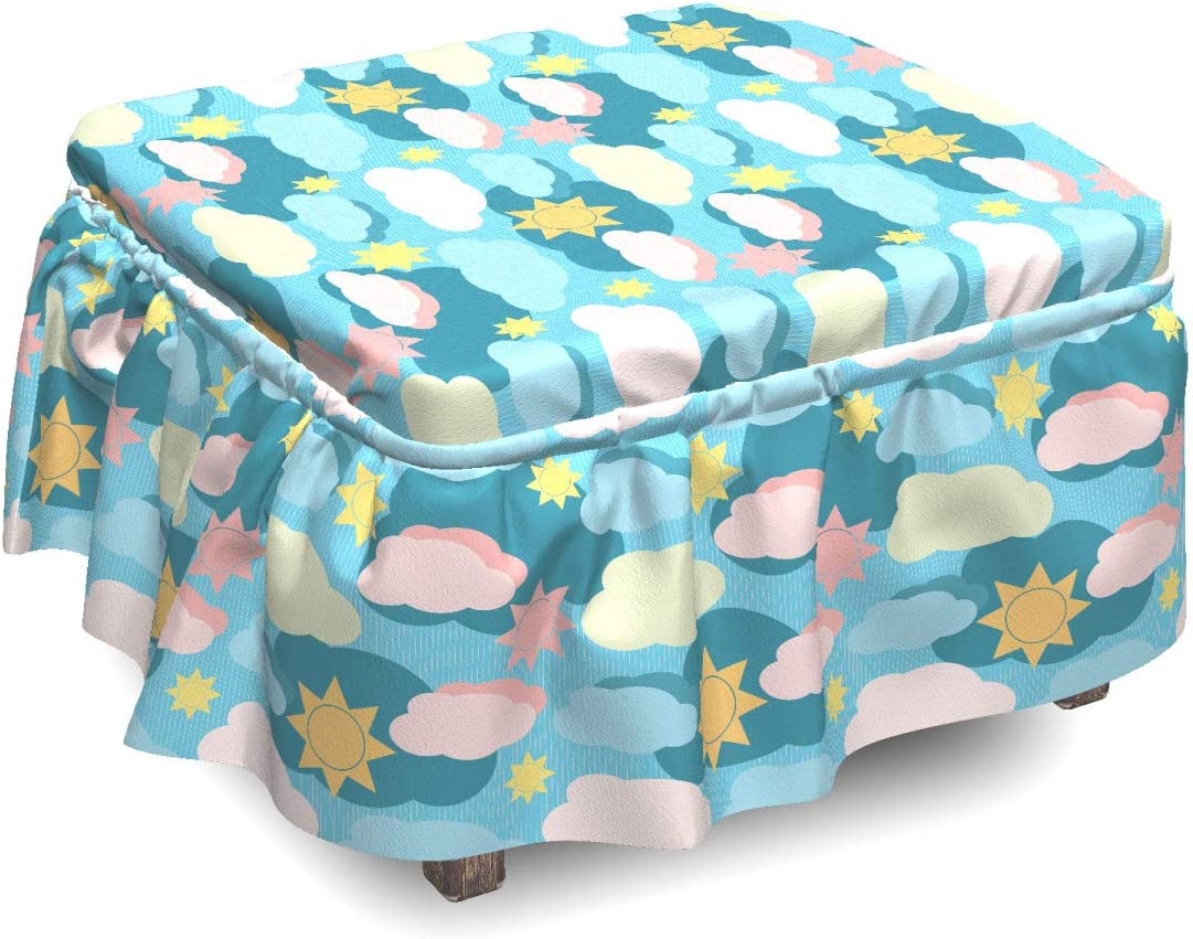 Ambesonne Popularity Many popular brands Clouds Ottoman Cover Graphic Suns 2 Pi Design