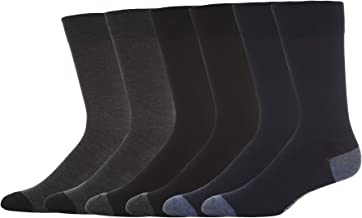 Kenneth Cole New York Men's 6 Pack Flat Knit Crew Socks