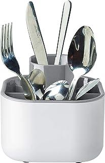 Nero Scolaposate Design Moderno in Plastica Asciuga e Cola Posate per Piano Lavello SG Secret de Gourmet Portaposate Scola Posate da Cucina