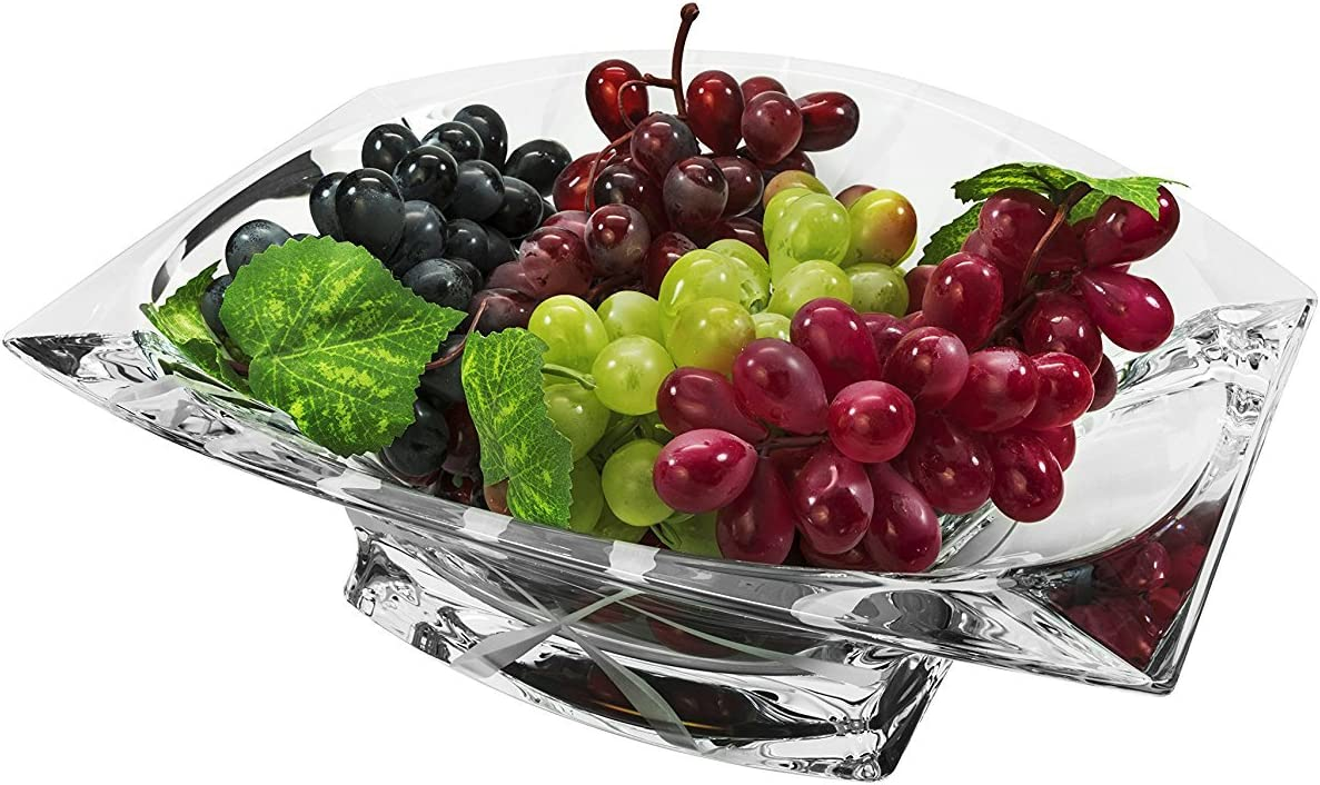 Bohemia New popularity Collection Decorative Crystal Max 66% OFF Fruit 12-in Cl Omnia Bowl