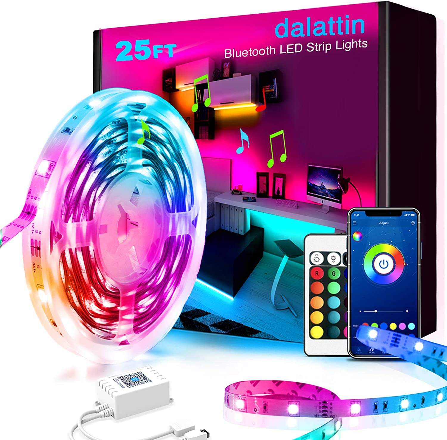 25ft Max 43% OFF Led Lights Smart dalattin C Inventory cleanup selling sale for with App Bedroom
