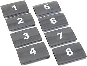 Design Engineering 010849 Heat Shrink Numbered Wire Marker Set, 8 Piece - Black