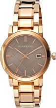 Burberry Women's BU9005 Large Check Rosetone Stainless Steel Bracelet Watch