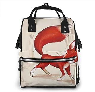 Risating Mummy Backpack - Red Fox Zwangerschaps luiertas multifunctionele waterdichte twill canvas voor babyverzorging