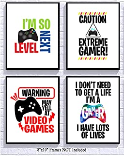 Bright Video Gamer Themed Art Print Room Wall Decor Mix and Match (May Yell)