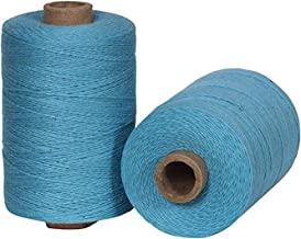 Warp Thread for Weaving Loom - 1 Spool of 850 Yards 8/4 Warp Yarn 100% Cotton - Turquoise Color - Perfect Warping Thread for Weaving Tapestry Carpet Rug Blankets and Other Patterns