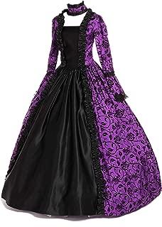 Renaissance Gothic Dark Queen Dress Ball Gown Steampunk Vampire Halloween Costume