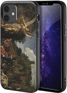 Pieter Lastman iphone 12 Mini用ケース/ファインアート携帯電話ケース/高解像度ジクレーレベルUV複製プリント、携帯電話カバー(Englen Rafael Tager Afsked Med Tobit Tobit Og...