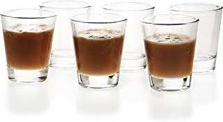 1.5 oz Shot Glasses with Heavy Base Clear Round Glass (6 Pack)