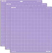 Nicapa Adhesive Replacement for Cricut Cutting Mat Purple StrongGrip for Cricut 12 * 12 3pack