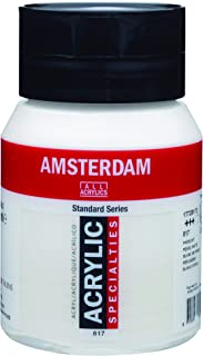 Royal Talens Amsterdam Standard Series Acrylic Color, 500ml Tube, Pearl White (17728172)