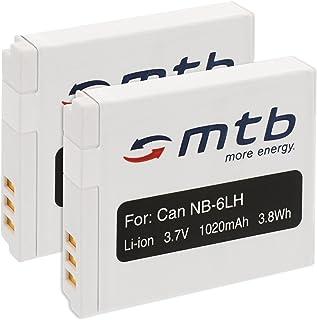 2X Batería NB-6L para Canon PowerShot SX240 HS, SX260 HS, SX270 HS, SX280 HS, SX500 IS. (Ver descripción)