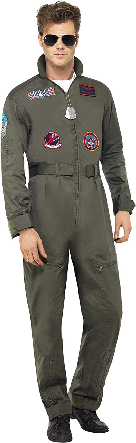 Smiffy's Mens Deluxe Top Gun Pilot Costume