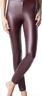 LEGGINS Mujer efecto piel con interior afelpado color burdeos TG L ART.A013160PJ