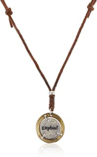 Unknown By Ayesha Men's Brown Pendant Necklace