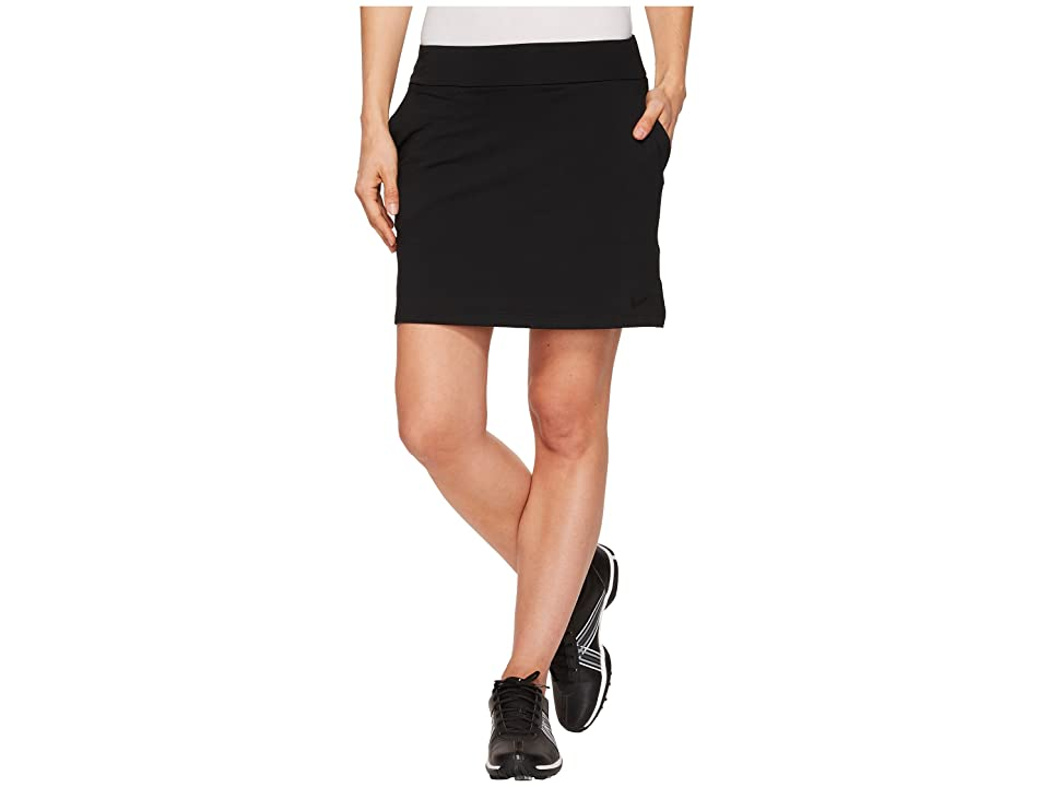 Nike Golf Dry Skort Knit 16.5 (Black/Flat Silver) Women
