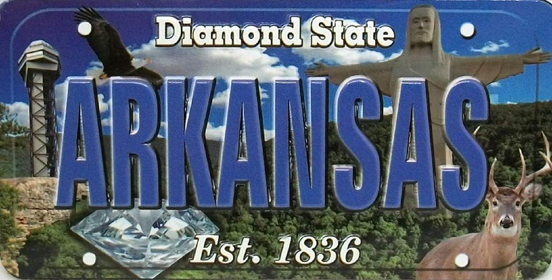 Arkansas The Diamond State License Souvenir Plate Sales of Washington Mall SALE items from new works Magnet Fridge