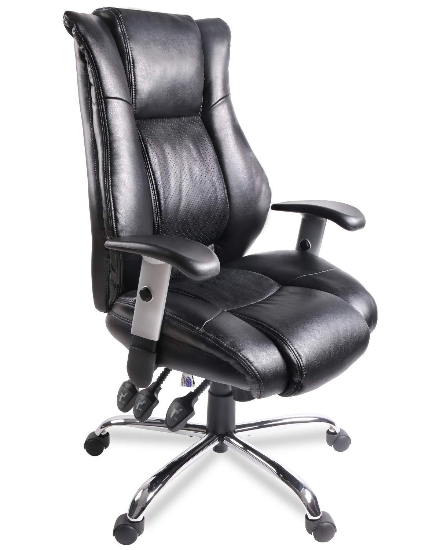 Ergonomic Computer Leather Adjustable Comfortable