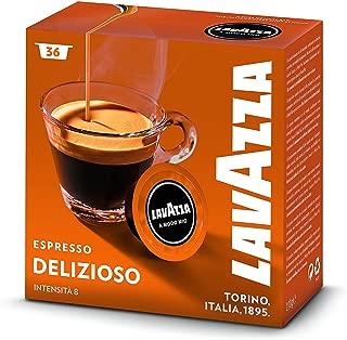 Capsule Lavazza A Modo Mio Espresso Delizioso intensita 8 monodose di caff macinato - Confezione da 36