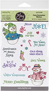 Joy Clair Clear Stamps 4x6-Cozy Snowman Wishes
