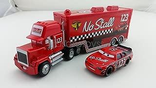 ้็็Hand Mate Car Toys Pixar 1:55 Scale Diecast No.123 Mack Racer's Truck & No Stall Metal Toy and Car Collectors