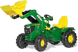 Rolly Toys rollyFarmtrac Trettraktor John Deere 6210R inkl. rollyTrac Lader, Front- und Heckkupplung, für Kinder von 3 bis 8 Jahre 611096