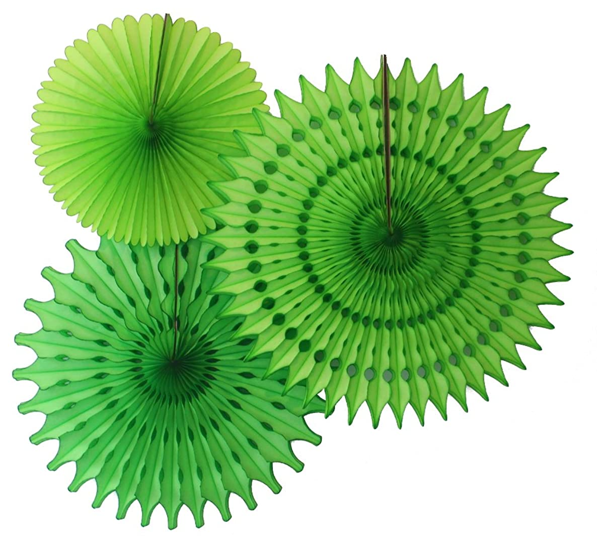 Hanging Honeycomb Tissue Fan, Lime, Set of 3 (13 inch, 18 inch, 21 inch)