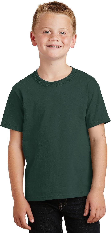 Port & Company - Youth 5.5-oz 100% Cotton T-Shirt, PC54Y, Dark Green, XL