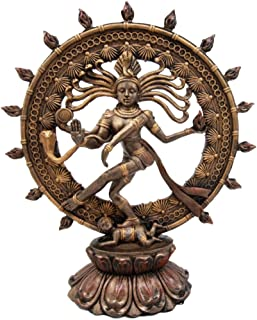 Ebros Hindu Shiva Nataraja Statue Lord Of The Dance Cosmic Dancer God Statuette Sanskrit Hinduism Supreme Deity Figurine 9