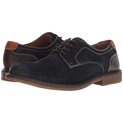 Johnston & Murphy Copeland Plain Toe (Navy Water-Resistant Oiled Suede) Men