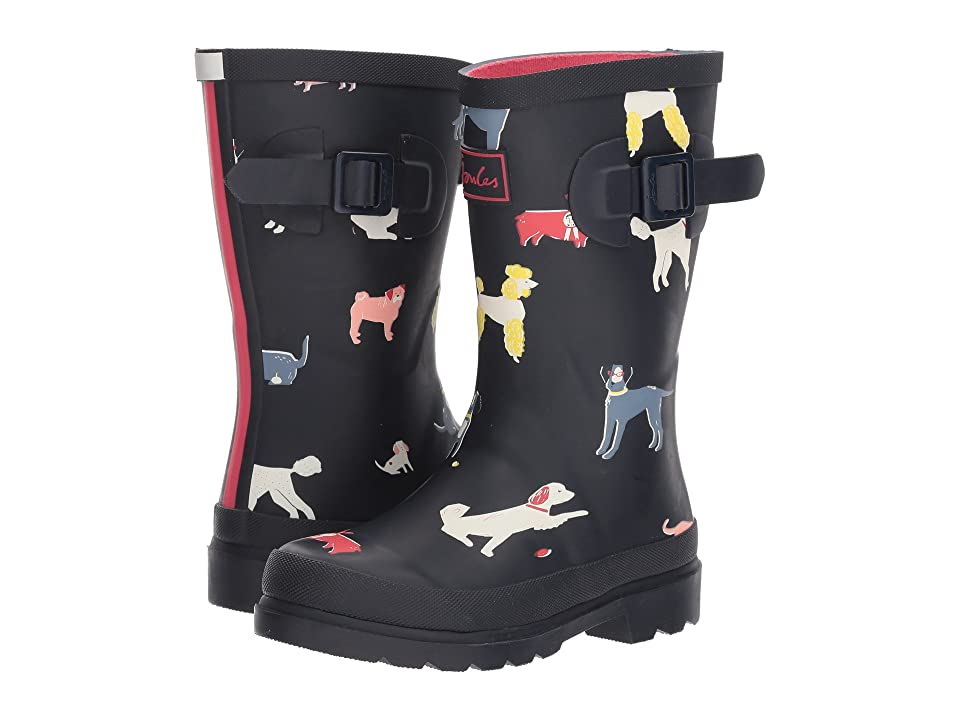 Joules Kids Printed Welly Rain Boot (Toddler/Little Kid/Big Kid) (Navy Sunday Best Dog) Girls Shoes