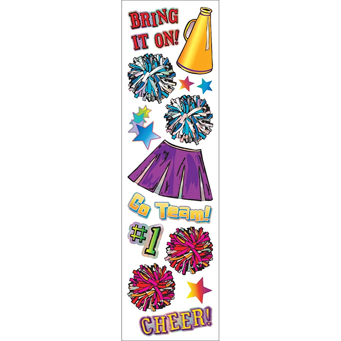 Hambly Silver Foil Stickers, Cheerleader (25 Sheets)