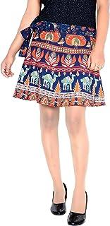 Cotton Wrap Skirt for Women 15 Inch Length Wrap Around Rajasthani Skirt D1