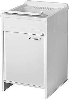 comprar comparacion Negrari 9006K, Lavamanos para interior / exterior, Blanco, 45 x 50 x 87 cm