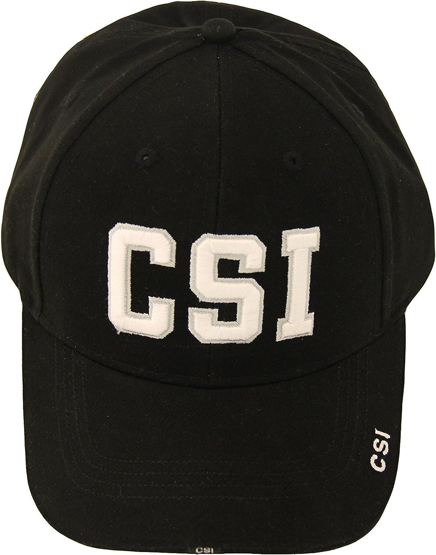 CSI Crime Scene Investigation Logo Adult Strapback Hat Black