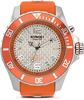 KYBOE! Quartz Stainless Steel and Silicone Watch (Model: Silver Blast)