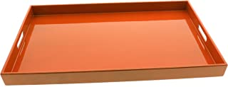 Kotobuki Rectangular Gloss Orange Lacquer Serving Tray, 18