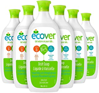 Ecover Dish Soap, Lime Zest, 25 Ounce (Pack 6)
