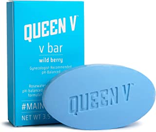 Queen V Wild Berry V Bar Soap for Women | All Natural Rosewater, Aloe Infused Cleansing Bar | Supports Feminine Health | No Harmful Ingredients, Gynecologist Recommended, pH Balanced | 3.5 oz (1 Pack)