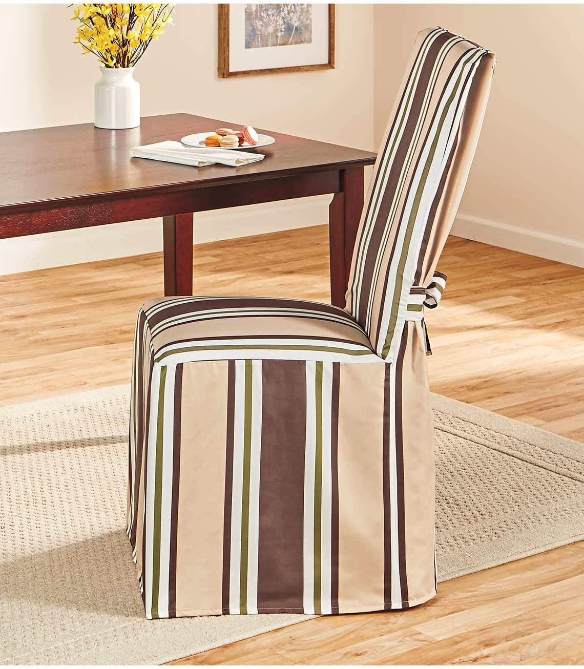 San Francisco Mall Carol Wright Gifts Ethan Super intense SALE Striped Oliv Covers Chair Color Dining