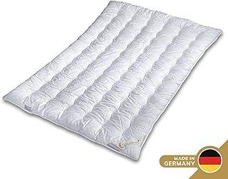 Bianco Adatto a Letto Singolo Cotone Piumone Aktimed per Tutte Le Stagioni in Materiale Antibatterico e ipoallergenico Schlafmond 155 x 200 cm