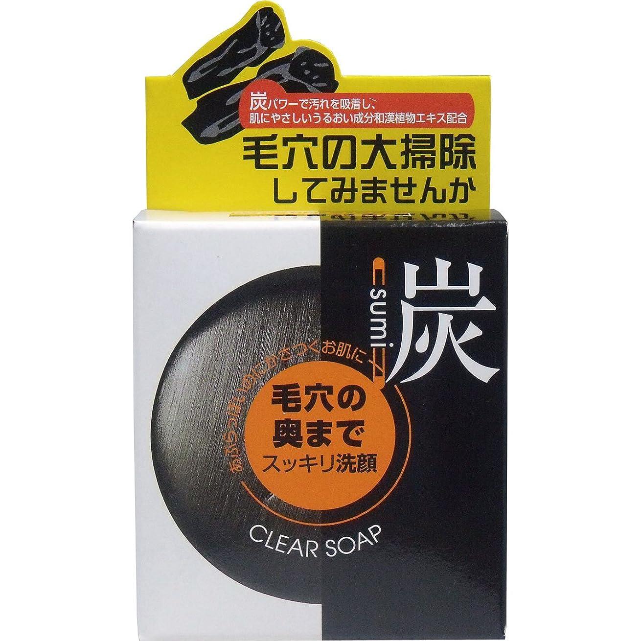 夜明け歴史家偽善者ユゼ 炭透明石鹸(100g)