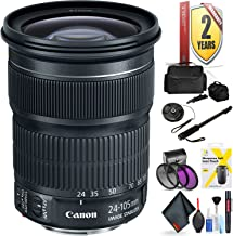 Canon EF 24-105mm F/3.5-5.6 is STM Lens for Canon 6D, 5D Mark IV, 5D Mark III, 5D Mark II, 6D Mark II, 5Dsr, 5Ds, 1Dx, 1Dx Mark II + Accessories (International Model)