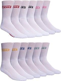 Levi's, Athletic Calcetines para hombre – 6 unidades de calcetines de rendimiento acolchados atléticos gimnasio Crew