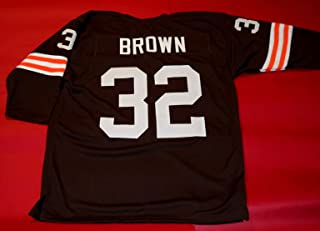 JIM BROWN BROWN CLEVELAND 3/4 SLEEVE THROWBACK CUSTOM STITCHED NEW FOOTBALL JERSEY MEN'S XL