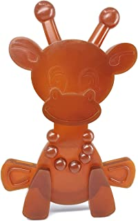 Amber Teething Toy – Little Bamber is a Natural Amber and Rubber Giraffe Teething Toy for Natural Teething Comfort – Comforting Texture Teething Toy for Sore Gums – Teething Necklace Alternative