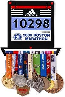 VICTORY HANGERS Medal Hanger for Runners | My Victories Race Bib Holder + Medal Rack | Square Shape | Complete Bundle Steel Medal Holder and Bib Hanger for 40+ Medals & 100 Runner Race Bibs